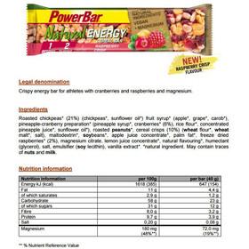 PowerBar Natural Energy Cereal Bar Box 24 x 40g Raspberry Crisp